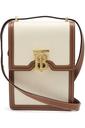 Burberry Robin Tb-plaque Canvas Phone Pouch - Womens - Multi