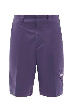 VALENTINO Garden-appliqué Poplin Bermuda Shorts - Mens