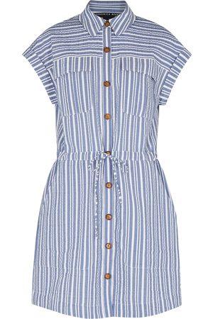 VERONICA BEARD Cris striped seersucker shirt dress