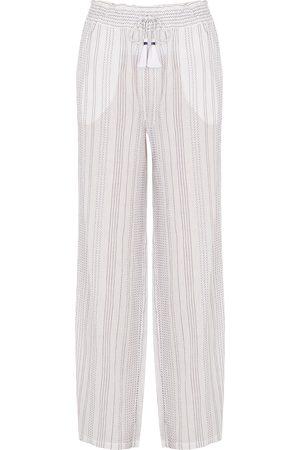 VERONICA BEARD Carmi straight-leg cotton-blend trousers