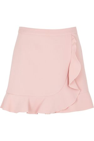 RED Valentino Women Shorts - Light ruffle-trimmed stretch-cady shorts