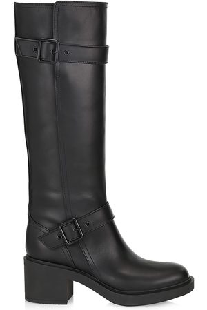 Gianvito Rossi Women Thigh High Boots - Women's Ryder Leather Knee-High Boots - - Size 8.5