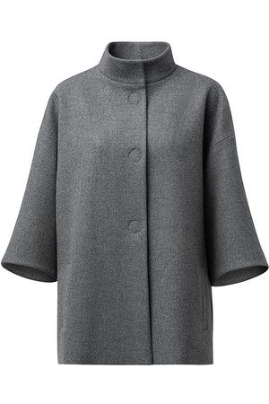 AKRIS Women's Wool Cape - Granite - Size 8