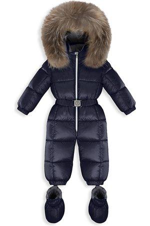 Moncler Baby's & Little Kid's New Jean Padded Fox Fur Snowsuit - Navy - Size 3