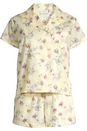 POUR LES FEMMES Women's Apoline Floral Cotton Pajama Set - Multi - Size Medium