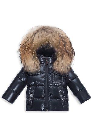 Moncler Baby's & Little Kid's K2 Fox Fur-Trim Down Puffer Jacket - Navy - Size 3