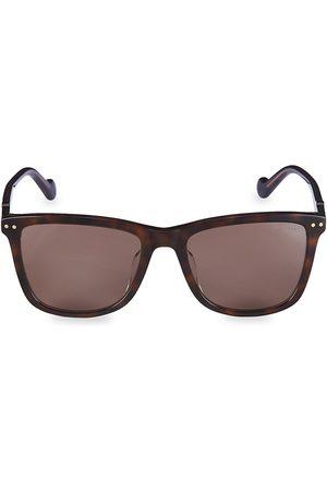 Moncler Men's 56MM Square Sunglasses - Dark Havana