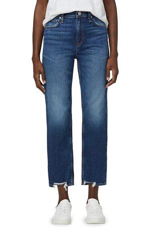 Hudson Women's Remi High-Rise Straight Leg Jeans - Rose - Size 27