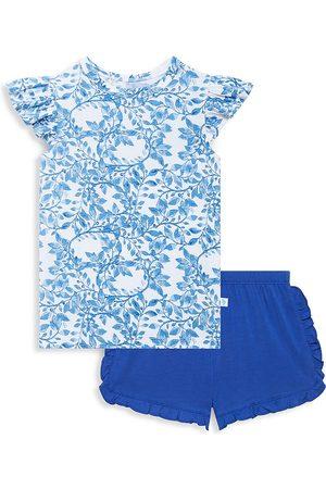 Posh Peanut Little Girl's & Girl's Allegra Ruffled T-Shirt & Short Set - - Size 8