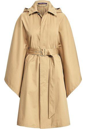Ralph Lauren Women's Cohan Belted Poncho - Safari Tan - Size Medium