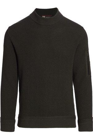 Z Zegna Men's Wool High Neck Sweater - Pine - Size Medium
