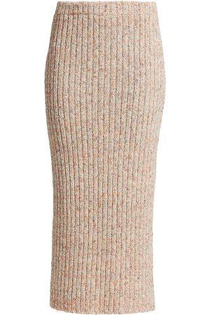 ST. JOHN Women's Rib-Knit Pencil Skirt - Light Amethyst Multi - Size Large