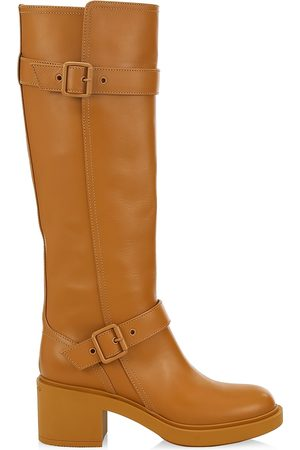Gianvito Rossi Women's Ryder Leather Knee-High Boots - - Size 9.5