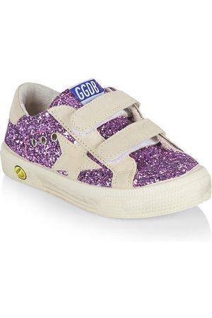 Golden Goose Little Girl's & Girl's May School Glitter Sneakers - Lavender - Size 1.5 (Child)