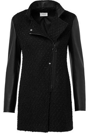 AKRIS Women's Wool-Blend Leather-Trim Coat - - Size 18