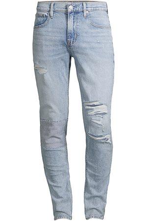 Hudson Men's Zack Skinny Distressed Jeans - Light - Size 38