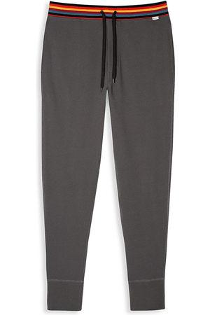 Paul Smith Men's Cotton Jersey Joggers - Grey - Size Large