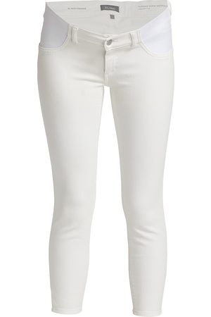 DL 1961 Women's Maternity Florence Skinny Cropped Jeans - Milk Performance - Size 28