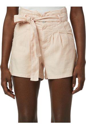 Hudson Women's Linen Paperbag Shorts - Pearl Blush - Size 26