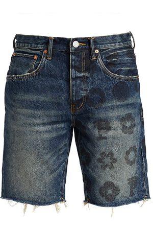 Purple Brand Men Shorts - Men's Monogram Denim Shorts - - Size 34