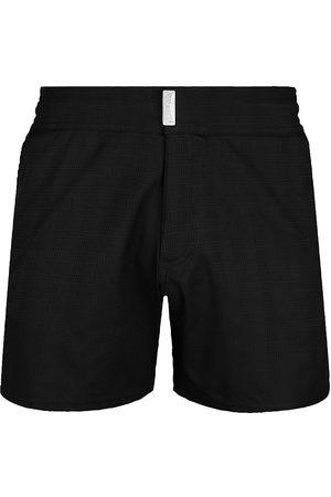Vilebrequin Men's Minise Jacquard Plaid Swim Trunks - Noir - Size XL