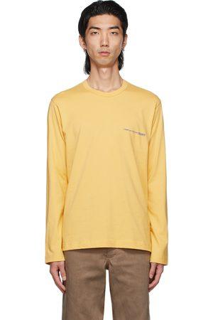 Comme des Garçons Men Long Sleeve - Yellow Logo Long Sleeve T-Shirt