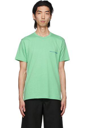 Comme des Garçons Men T-shirts - Green Logo T-Shirt