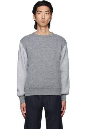Comme des Garçons Men Sweatshirts - Grey Lochaven Of Scotland Edition Colorblocked Sweater