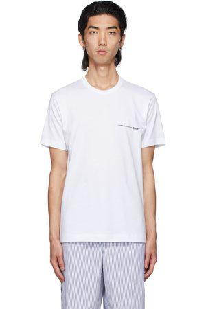 Comme des Garçons Men T-shirts - White Logo T-Shirt