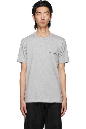 Comme des Garçons Men T-shirts - Grey Logo T-Shirt