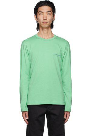 Comme des Garçons Men Long Sleeve - Green Logo Long Sleeve T-Shirt