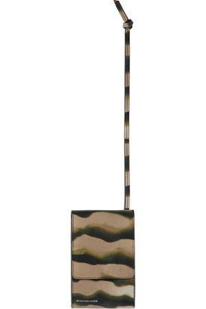 DRIES VAN NOTEN Wallets - Khaki Len Lye Edition Printed Card Holder Phone Case