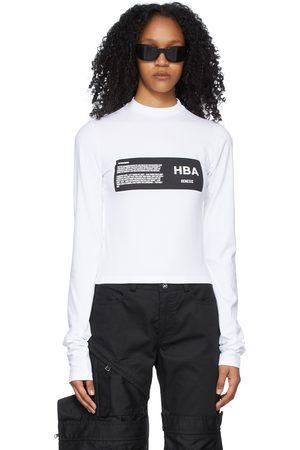 Hood By Air Women Long Sleeve - Logo Long Sleeve T-Shirt