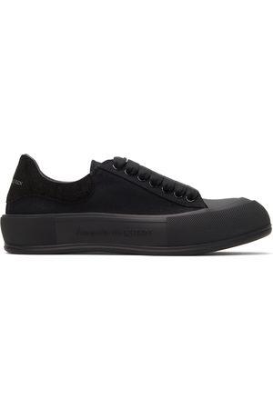 Alexander McQueen Men Casual Shoes - Black Deck Plimsoll Sneakers