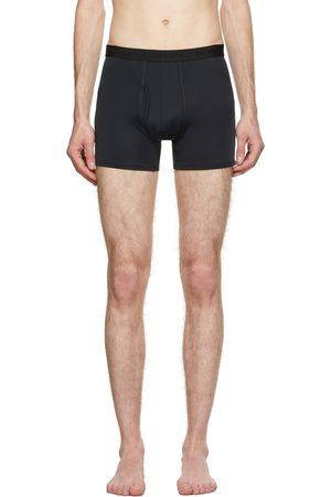 Balenciaga Men Swim Shorts - Black Fitted Swim Shorts