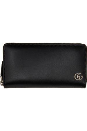 Gucci Men Wallets - Black GG Marmont Zip Around Wallet