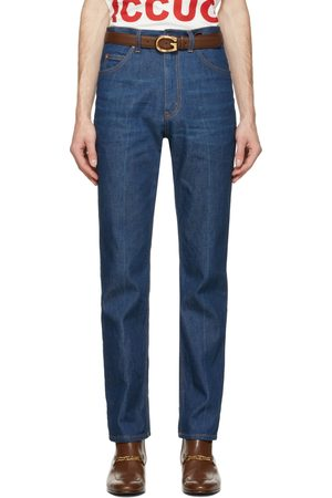 Gucci Men Jeans - Blue Eco Washed Organic Denim Jeans