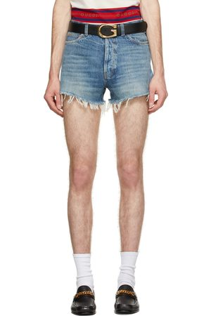 Gucci Men Shorts - Blue Eco Resinated Denim Shorts