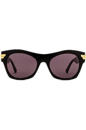 Bottega Veneta Bold Ribbon Intreccio Sunglasses in Brown