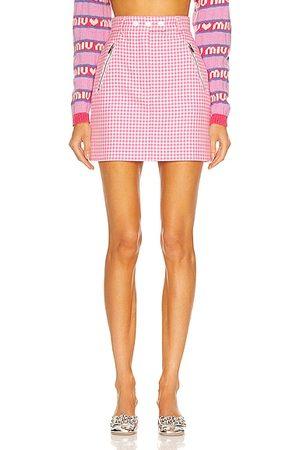 Miu Miu Gingham Mini Skirt in