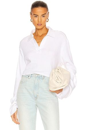THE RANGE Cropped Polo Top in