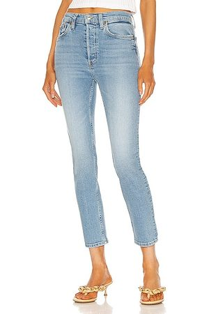 RE/DONE 90's High Rise Ankle Crop in Blue