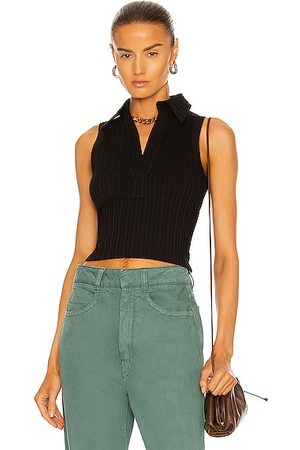 Helmut Lang Cropped Polo Tank Top in