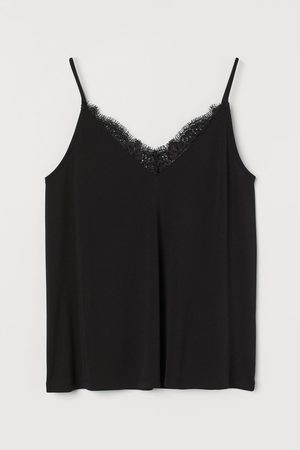 H&M Women Camisoles - Lace-trimmed Camisole Top