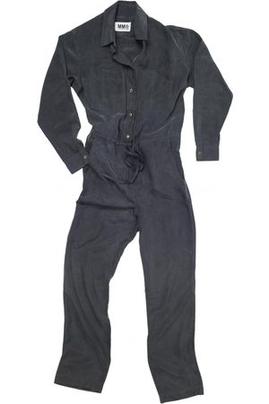 MM6 Anthracite Silk Jumpsuits