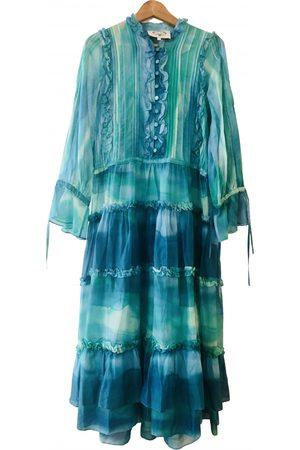 Evi Grintela Turquoise Cotton Dresses