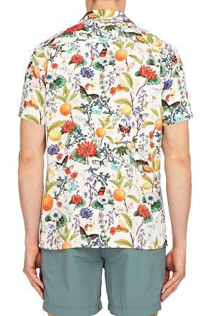Orlebar Brown Men's Travis Botanical Shirt - Almond - Size XXL