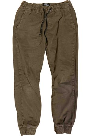 Bershka Khaki Cotton Trousers