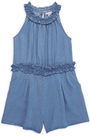 HABITUAL Girls T-shirts - Girl's Aviana Chambray Romper - Med Stone - Size 14