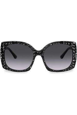 Dolce & Gabbana Women Square - 58MM Embossed Square Sunglasses